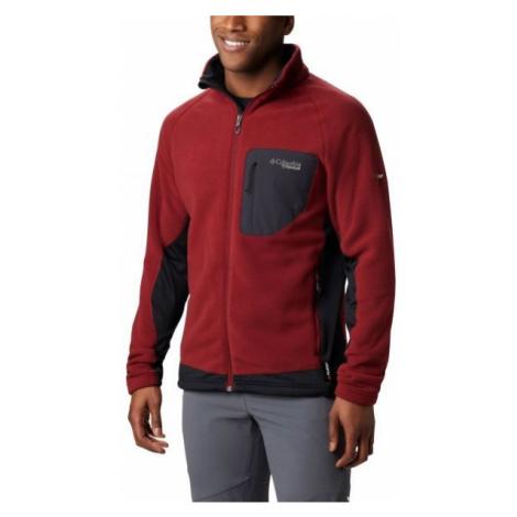 Columbia TITAN PASS 2.0 II FLEECE red - Men's fleece sweatshirt