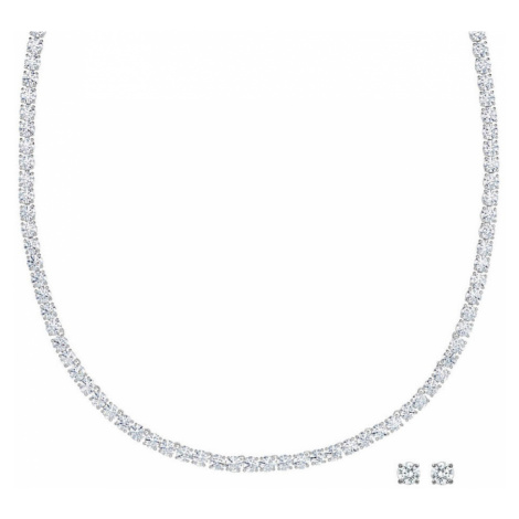 Swarovski Deluxe White Crystal Jewellery Set | Valentine's Gifts