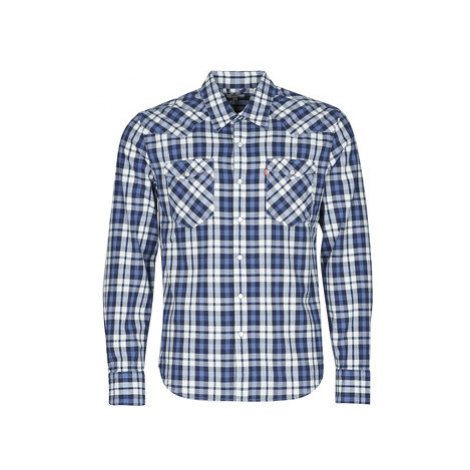 Levis BARSTOW WESTERN BODHRAN DRESS men's Long sleeved Shirt in Blue Levi´s