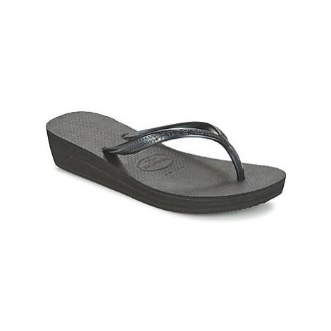 Havaianas HIGH LIGHT women's Flip flops / Sandals (Shoes) in Black