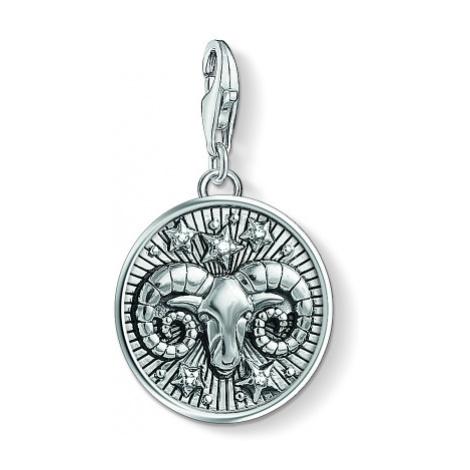 Ladies Thomas Sabo Sterling Silver Charm Club Zodiac Sign Aries Charm 1640-643-21