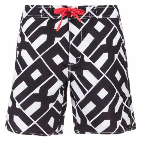 Armani Exchange Swimsuit Black White