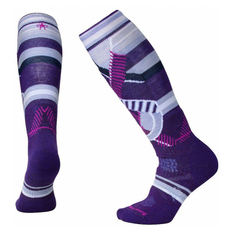 socks Smartwool PhD Ski Medium Pattern - Mountain Purple - women´s