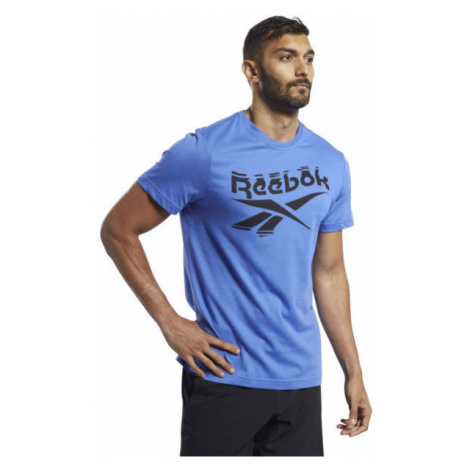 Reebok GS BRANDED CREW TEE blue - Men's T-shirt