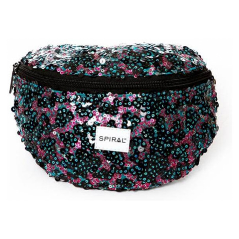 Spiral Infinity Sequins Bum Bag Black Glamour
