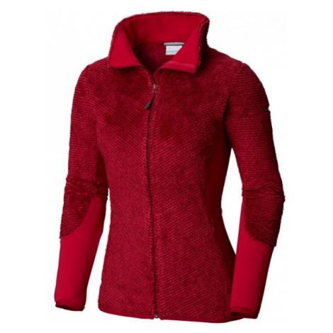 Columbia WILLOW FALLS FLEECE red - Women's fleece sweatshirt