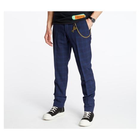 Pietro Filipi Men's Wool Trousers Dark Blue