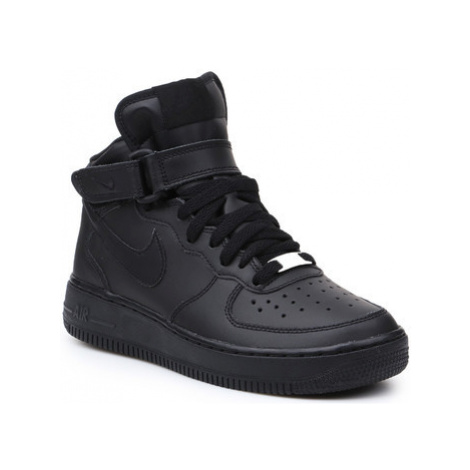 Nike Air Force 1 Mid (GS) 314195-004 girls's Children's Shoes (High-top Trainers) in Black