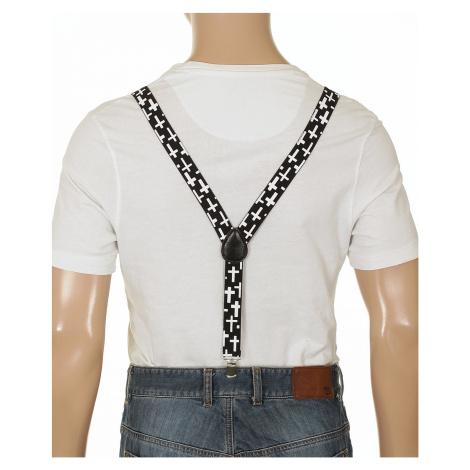 Mohity Suspenders Simple Cross Braces - Black/White