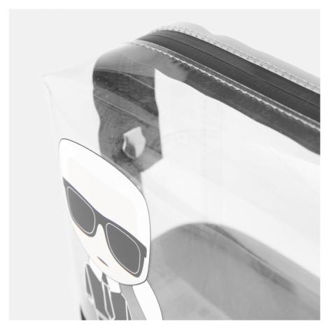 KARL LAGERFELD Women's K/Ikonik Transparent Pouch - Black