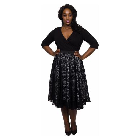Lace Circle Skirt - Black Scarlett & Jo