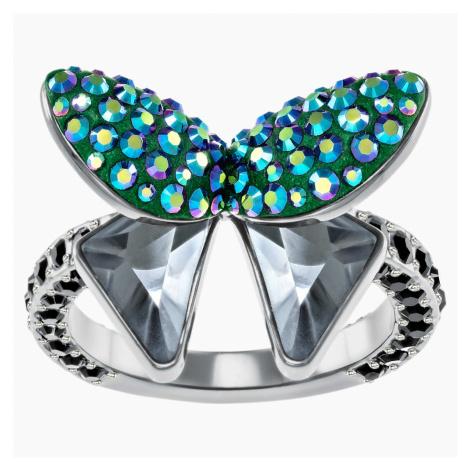 Magnetized Motif Ring, Multi-coloured Swarovski