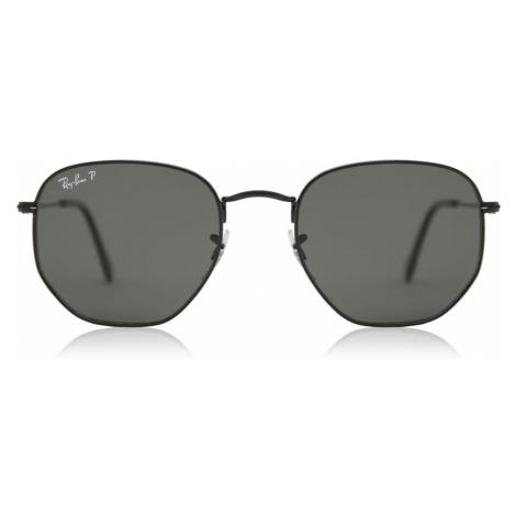 Ray-Ban Sunglasses RB3548N Hexagonal Metal Flat Lenses Polarized 002/58