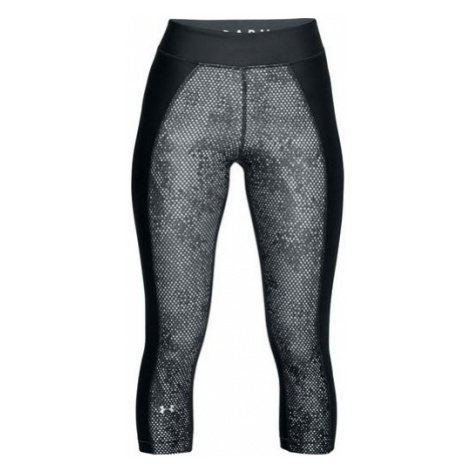 Under Armour HG PRINT ARMOUR CAPRI grey - Women's 3/4 length compression tights
