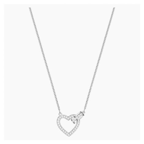 Lovely Necklace, White, Rhodium plated Swarovski