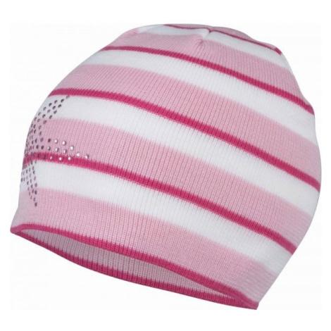 Lewro BEAUTIFLY white - Girls' knitted hat