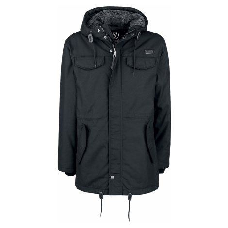 Brandit - Marsh Lake Teddyparka - Winter jacket - black