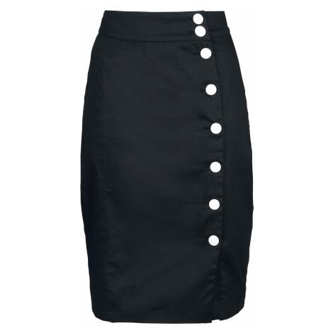 Banned Retro - A-Symetric Pencil - Skirt - black