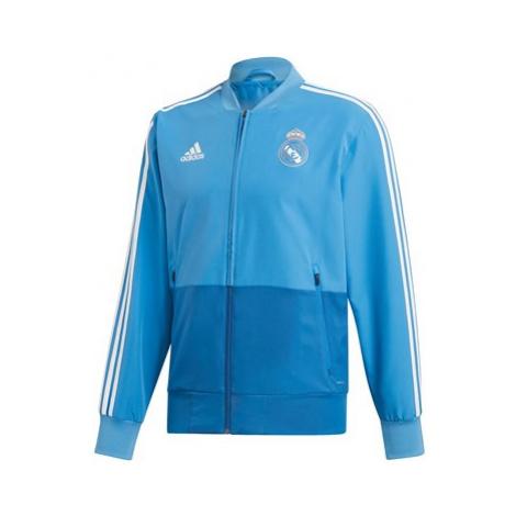Real Madrid Training Woven Presentation Jacket - Blue Adidas
