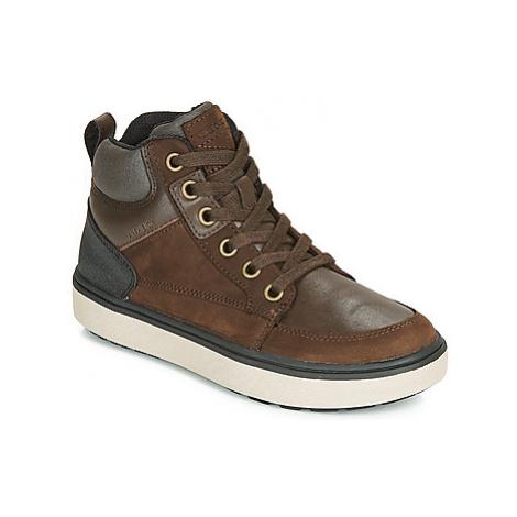 Geox J MATTIAS B BOY ABX boys's Children's Shoes (High-top Trainers) in Brown