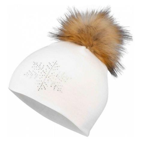 Lewro MARELA white - Girls' knitted hat