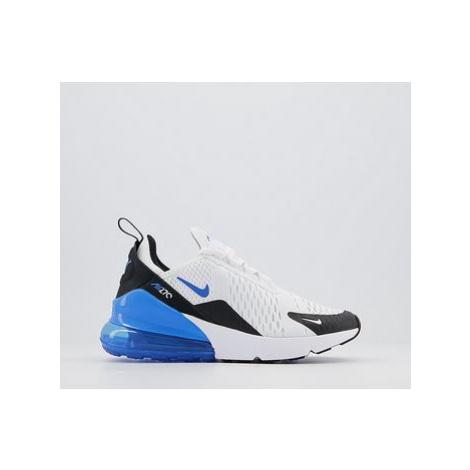 Nike Air Max 270 Gs Trainers WHITE BLUE BLACK
