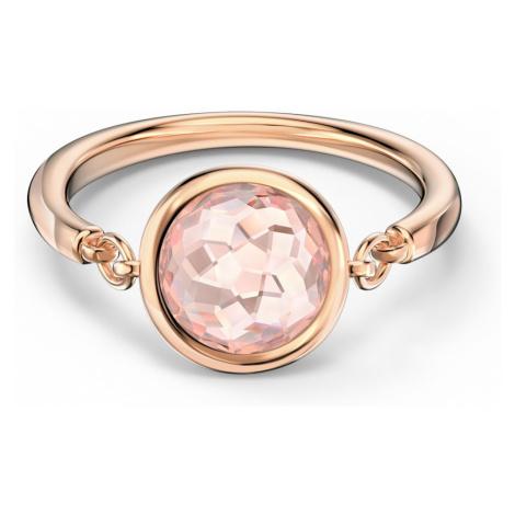 Tahlia Ring, Pink, Rose-gold tone plated Swarovski