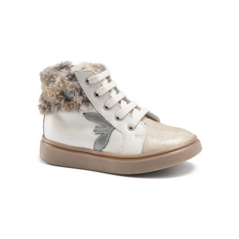 Catimini MARCELLE girls's Children's Shoes (High-top Trainers) in Beige