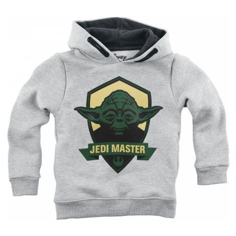 Star Wars - Jedi Master - Kids Hooded Sweater - mottled grey