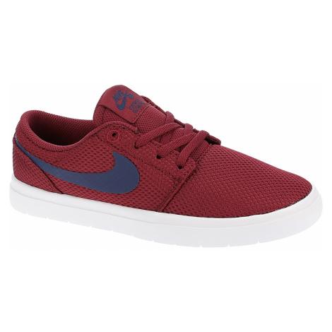 shoes Nike SB Portmore II Ultralight GS - Red Crush/Blue Void/White - unisex junior