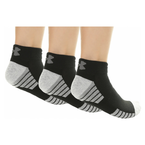 socks Under Armour Heatgear Tech Low Cut 3 Pack - 001/Black/Gray