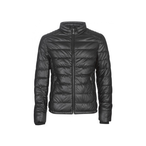 Guess STRETCH PU QUILTED men's Leather jacket in Black