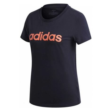 adidas E LIN SLIM TEE dark blue - Women's T-shirt