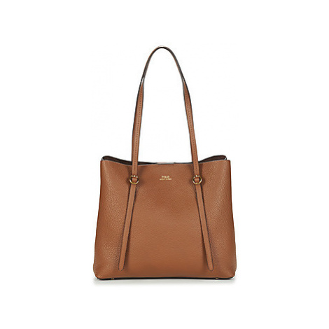 Polo Ralph Lauren SM LNX TOTE-TOTE-LARGE women's Shoulder Bag in Brown