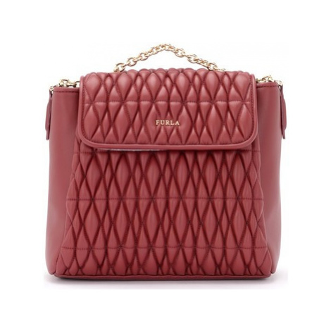 Furla Pin Cometa backpack in quilted cherry leather women's Backpack in Red