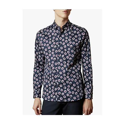 Ted Baker Wewill Floral Print Shirt, Navy