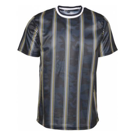 Urban Classics Thin Vertical Stripes AOP T-Shirt navy