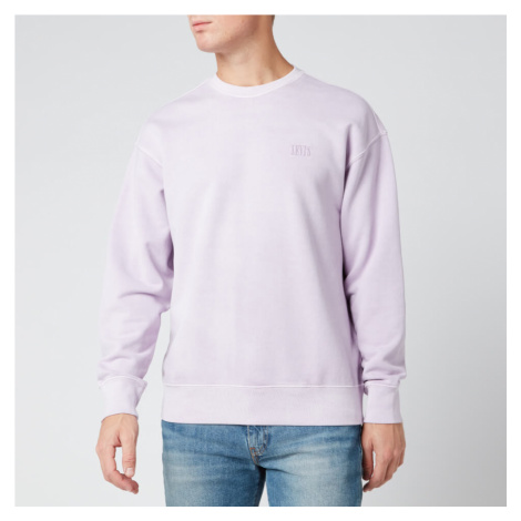 Levi's Men's Authentic Logo Garment Dye Sweatshirt - Lavender Frost Levi´s
