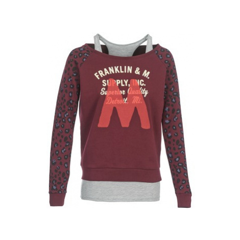 Franklin Marshall MANTECO women's Sweatshirt in Red Franklin & Marshall