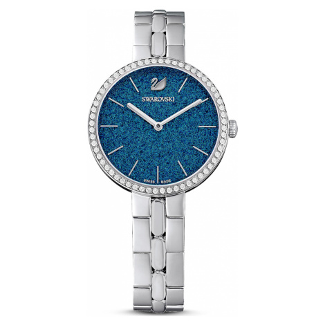 Cosmopolitan Watch, Metal bracelet, Blue, Stainless steel Swarovski