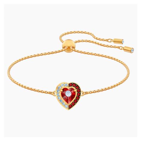 Black Baroque Bracelet, Red, Gold-tone plated Swarovski