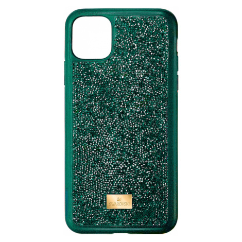 Glam Rock Smartphone Case with Bumper, iPhone® 11 Pro Max, Green Swarovski