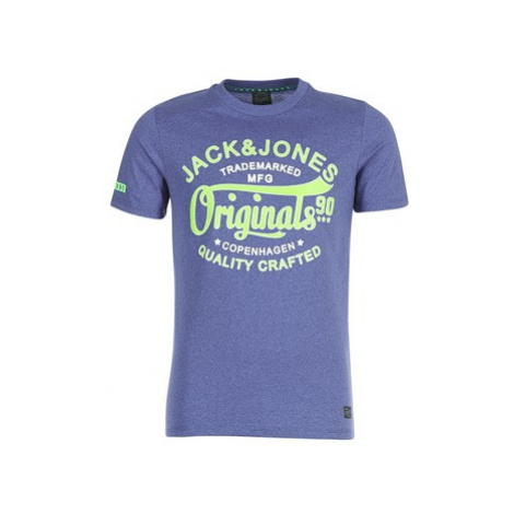 Jack Jones JORSOLIDATE men's T shirt in Blue Jack & Jones