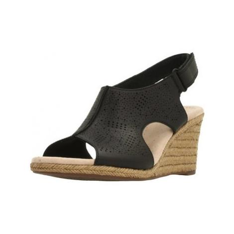 Clarks LAFLEY ROSEN BLACK women's Espadrilles / Casual Shoes in Black