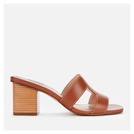 Dune Women's Jupe Leather Heeled Mules - Tan - UK