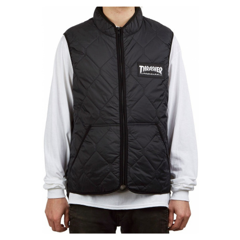 vest Thrasher Magazine Logo - Black - men´s