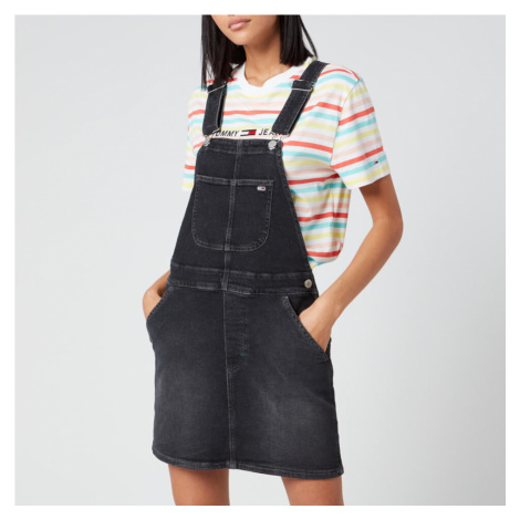 Tommy Jeans Women's Classic Dungaree Dress - Black Comfort Tommy Hilfiger