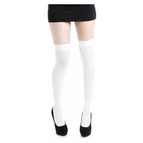 Pamela Mann - White Over The Knee Socks - Overknees - white