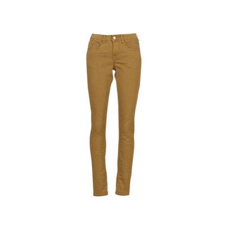 Cream LOTTE women's Trousers in Brown