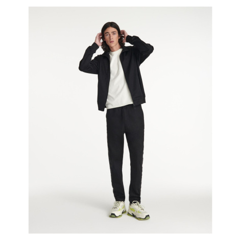 The Kooples - Black joggers in cotton with logo band - MEN